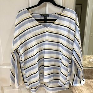 INC Macy's brand Int'l Concept Striped silk blouse